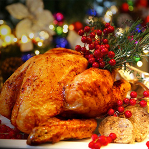 Café 8 Degrees_Roasted Christmas Turkey with Chestnut Stuffing and Cranberry Sauce_300x300