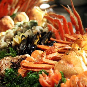 An array of mouth-watering cold seafood