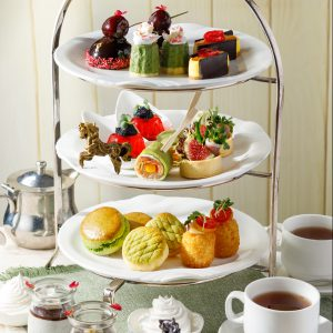 Alluring Green Tea and Cherry Afternoon Tea Set